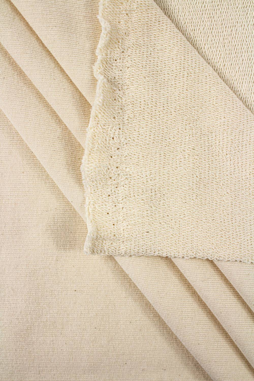 Dresówka pętelka pranie (ecru) GOTS - 200cm 300g/m2