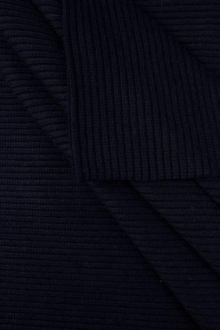 Ściągacz gruby sweterkowy prążkowany - granatowy - 50cm/100cm 440g/m2 thumbnail