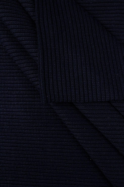 Ściągacz gruby sweterkowy prążkowany - granatowy - 50cm/100cm 440g/m2