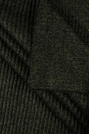 Ściągacz gruby sweterkowy prążkowany - khaki - 60cm/120cm 460g/m2 thumbnail
