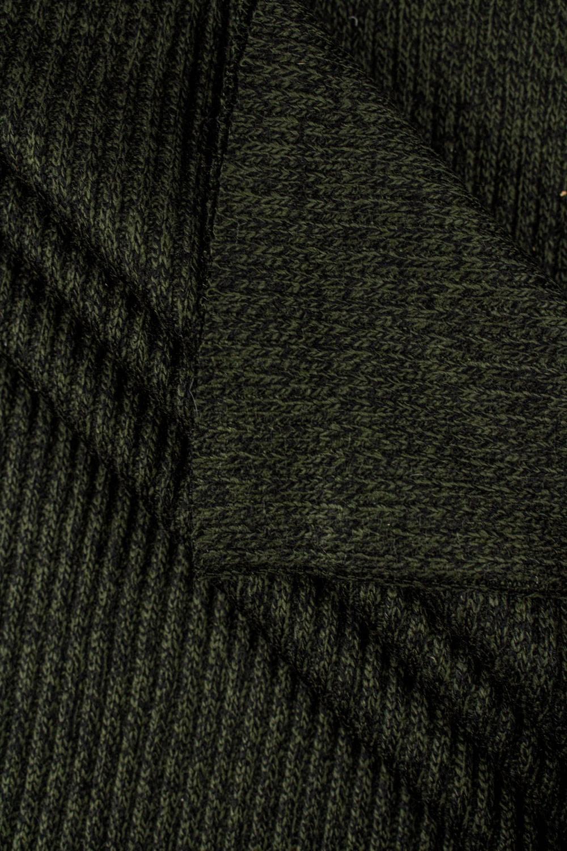 Ściągacz gruby sweterkowy prążkowany - khaki - 60cm/120cm 460g/m2