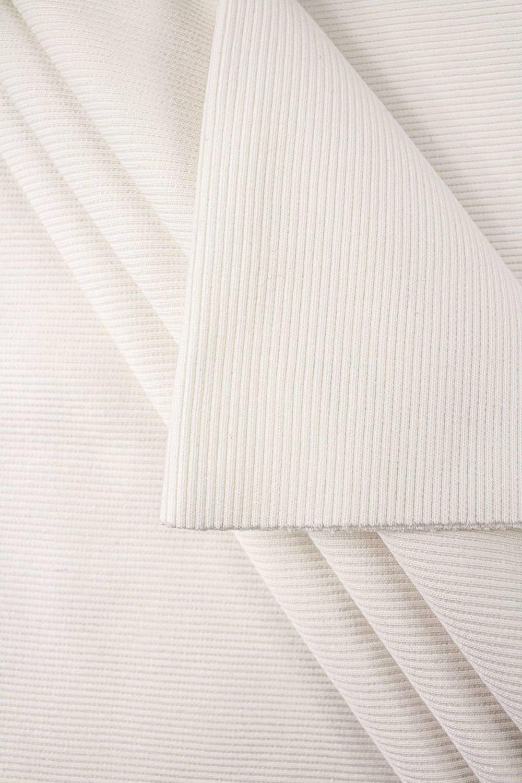 Ściągacz prążek GOTS - chemiczna biel (śmietanka) - 60cm/120 420g/m2