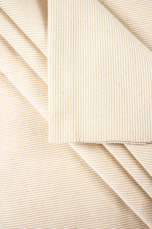 Ściągacz prążek GOTS - beżowy (pranie) - 60cm/120 420g/m2