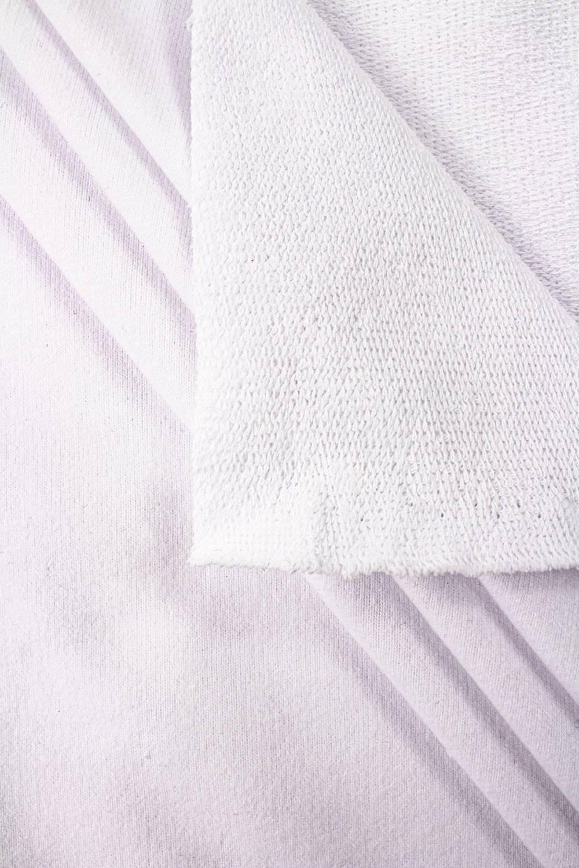 Dresówka pętelka skin peach optyczna biel GOTS - 185cm 280g/m2