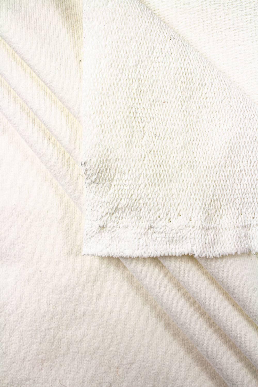 Dresówka pętelka skin peach chemiczna biel GOTS - 185cm 280g/m2