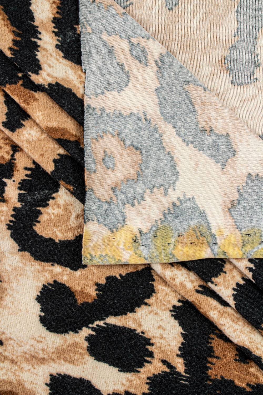 Dzianina welur - gepard - 160cm 250g/m2