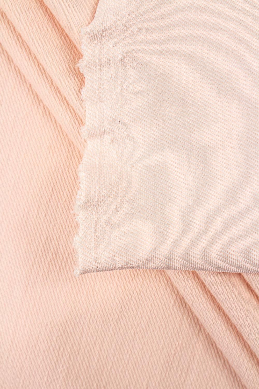 Dzianina dresowa ze splotem diagonalnym - pudrowy róż - 160cm 290g/m2