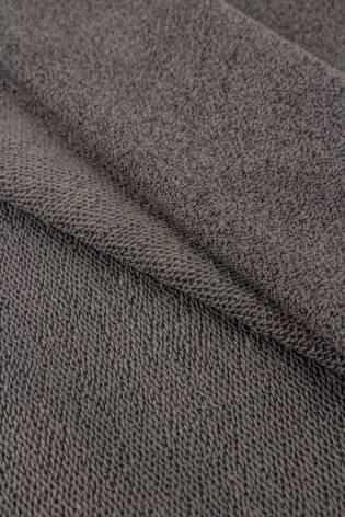 Dzianina dresowa pętelka ciemno szary melanż - silikonowana - 145cm 250g/m2 thumbnail