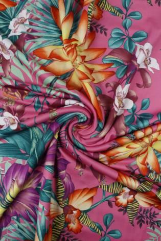 Dzianina jersey venezia tropikalne kwiaty KUPON 2 MB thumbnail