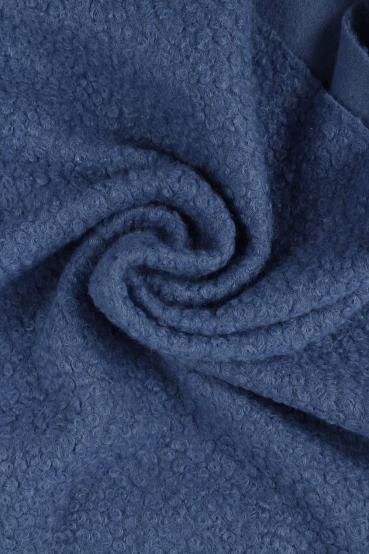 Tkanina boucle włosy anioła niebieski KUPON 2MB