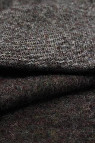 Tkanina wełniana parzona bordowy melanż KUPON 2MB thumbnail