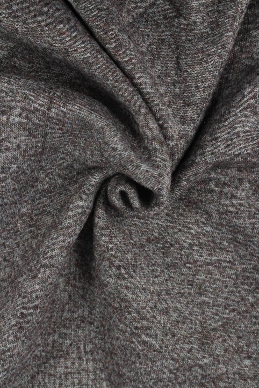 Tkanina wełniana parzona bordowy melanż KUPON 2MB