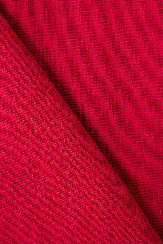 Tkanina bawełniana z dodatkiem lnu - malinowa - 135cm 210g/m2