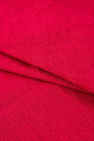 Tkanina bawełniana z dodatkiem lnu - malinowa - 135cm 210g/m2 thumbnail