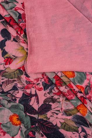 Dzianina jersey elanobawełna - różowy z nadrukiem sublimacyjnym kwiatów - 160cm 180g/m2 thumbnail