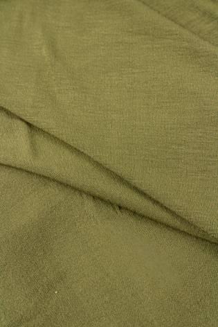 Dzianina jersey wiskozowy - khaki - 175cm 195g/m2 thumbnail