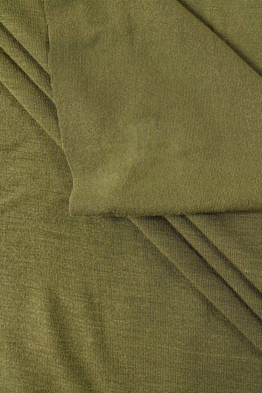 Dzianina jersey wiskozowy - khaki - 175cm 195g/m2