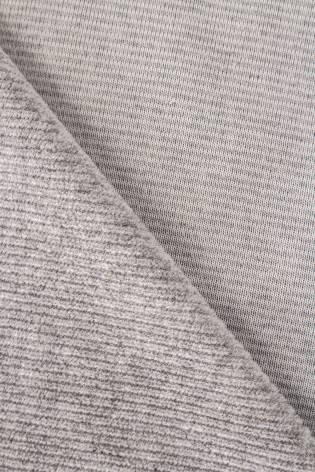 Knit - Velour - Ribbed - Grey - 185 cm - 230 g/m2 thumbnail