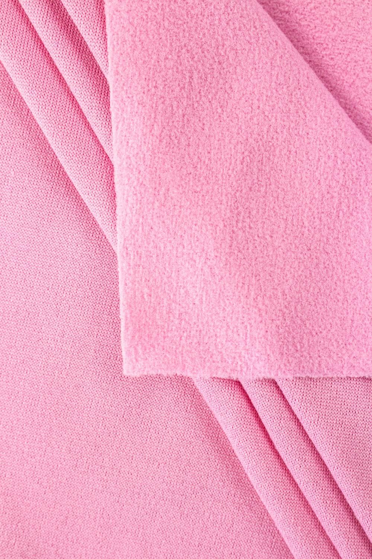 Dresówka drapana różowa  z drapaniem polarowym - 160cm 150g/m2