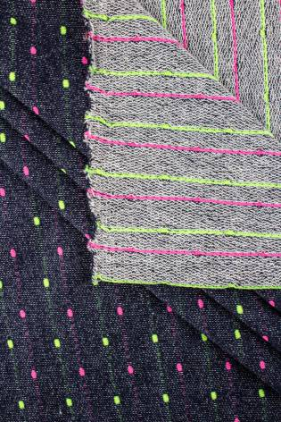 Knit - French Terry - Neon Spots - 185 cm - 220 g/m2 thumbnail
