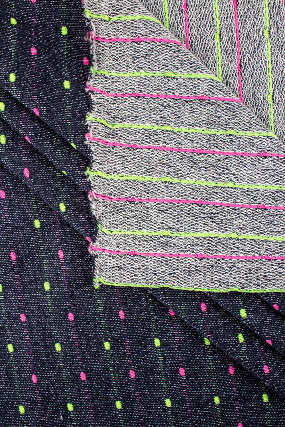 Knit - French Terry - Neon Spots - 185 cm - 220 g/m2
