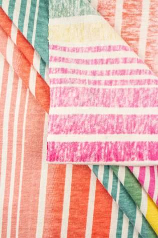 Dzianina jersey bawełniany w kolorowe paski - 150cm 180g/m2 thumbnail