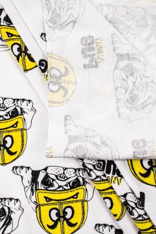 Dzianina jersey bawełniany z nadrukiem PUG - 180cm 170g/m2 thumbnail