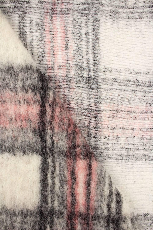 Tkanina wełna parzona w kratkę  - 150cm 300g/m2