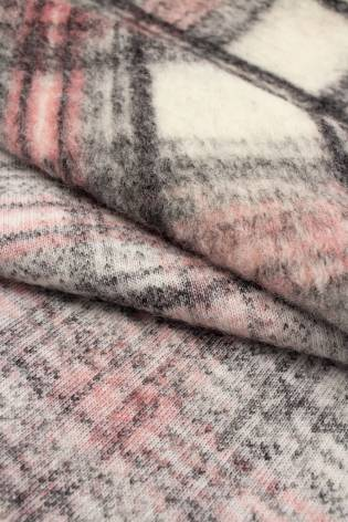 Tkanina wełna parzona w kratkę  - 150cm 300g/m2 thumbnail