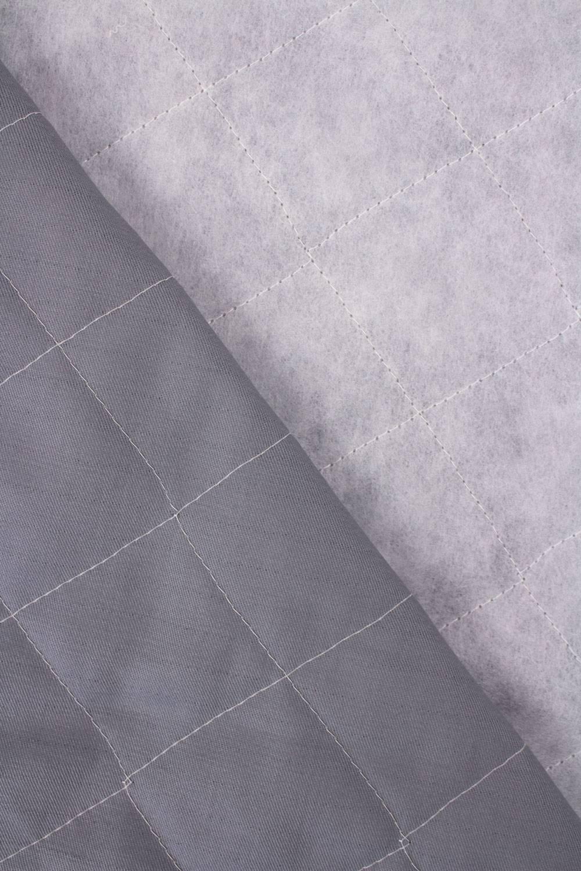 Tkanina pikowana zewnętrzna wodoodporna - bawełniana - popielata - 160cm 310g/m2