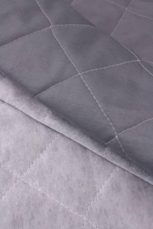 Tkanina pikowana zewnętrzna wodoodporna - bawełniana - popielata - 160cm 310g/m2 thumbnail