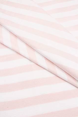 Dzianina jersey wiskozowy w łososiowe paski - 190cm 180g/m2 thumbnail