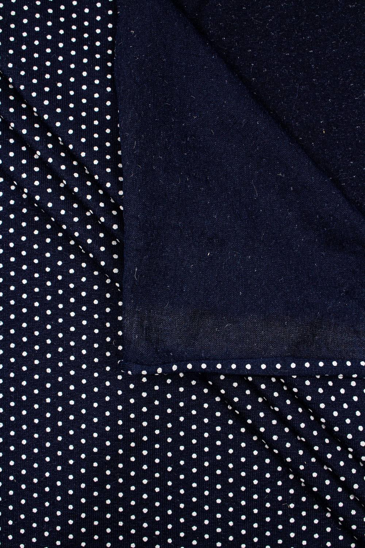Dzianina jersey wiskozowy granatowy w drobne kropki - 180cm 200g/m2
