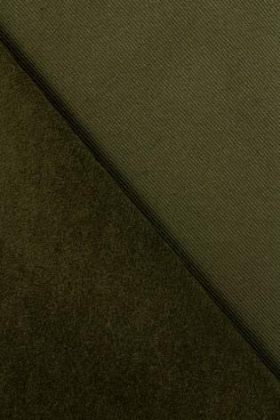 Tkanina flanelowa zamszowa - oliwkowy - 150cm 300g/m2 thumbnail