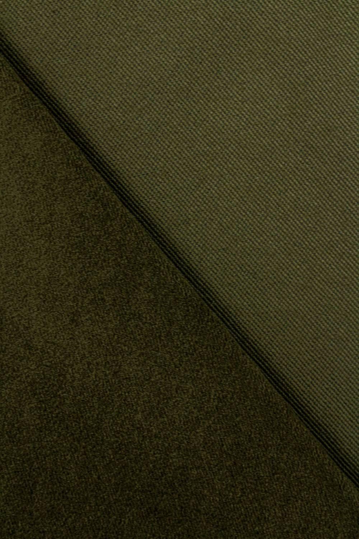 Tkanina flanelowa zamszowa - oliwkowy - 150cm 300g/m2