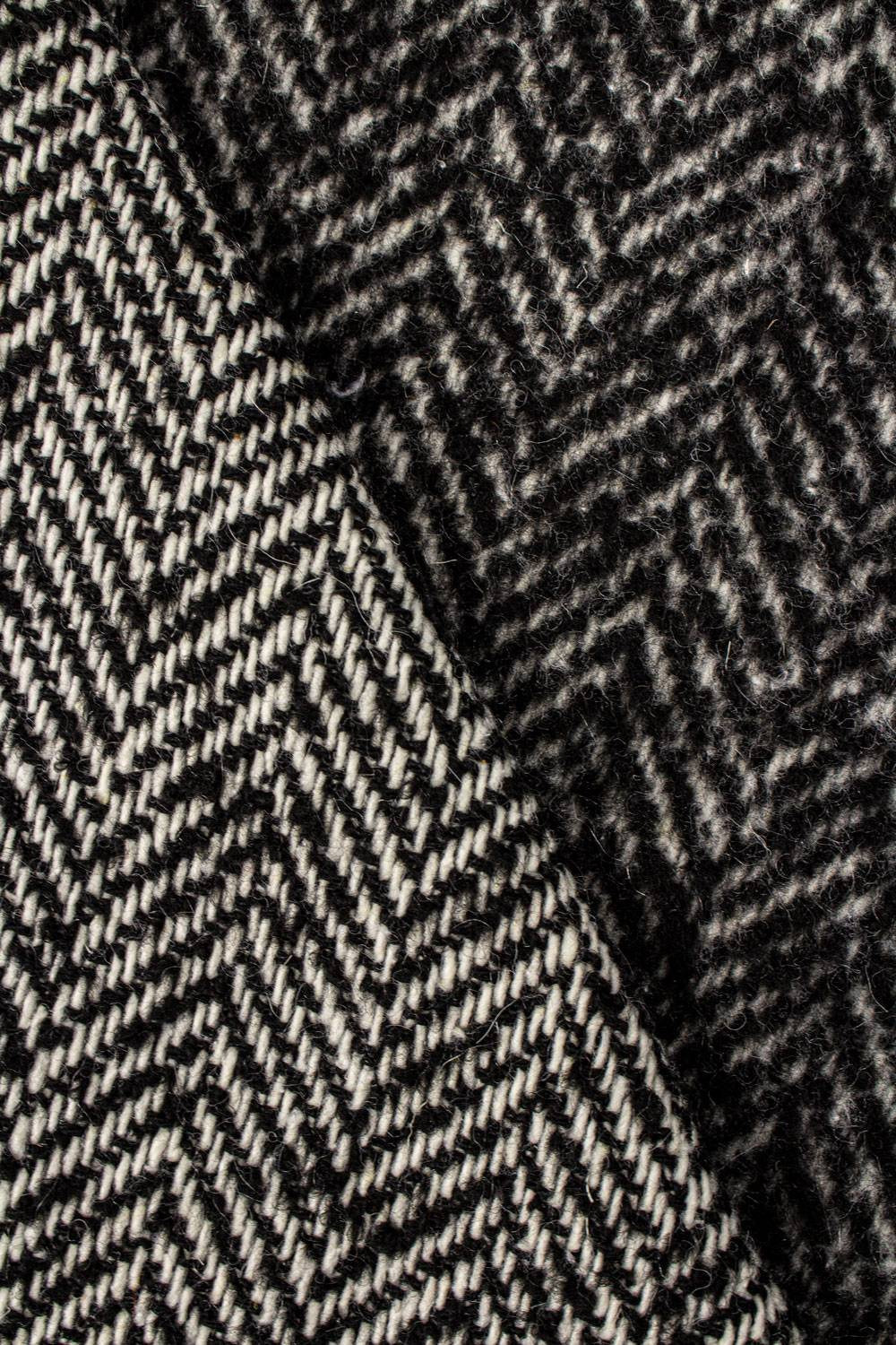 Fabric - Coat - Brushed Side - Herringbone - 145 cm - 420 g/m2