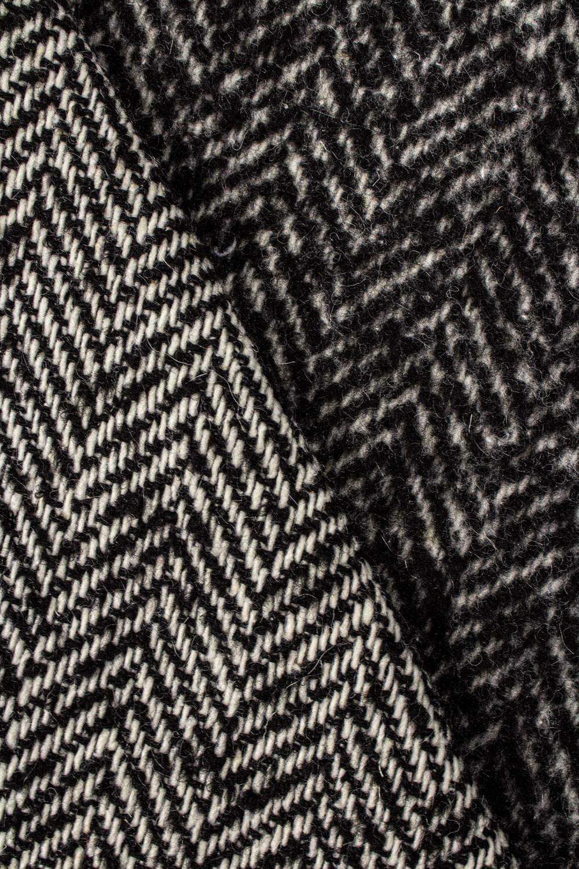 Tkanina płaszczowa jednostronnie szczotkowana w jodełkę - 145cm 420g/m2
