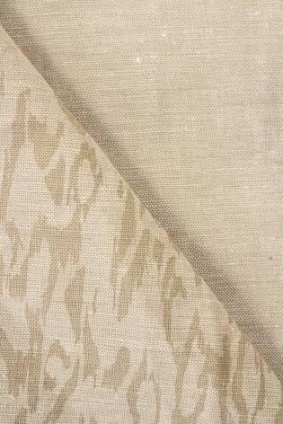 Tkanina lniana beżowa w a'la panterkę - 150cm 200g/m2 thumbnail