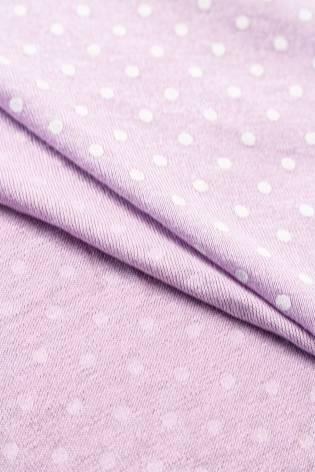 Dzianina jersey wiskozowy w kropki - lawendowy - 185cm 180g/m2 thumbnail