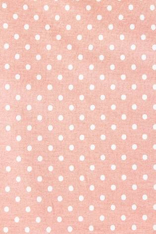 Knit - Viscose Jersey - Polka Dots On Salmon Pink Colour - 185 cm - 180 g/m2 thumbnail
