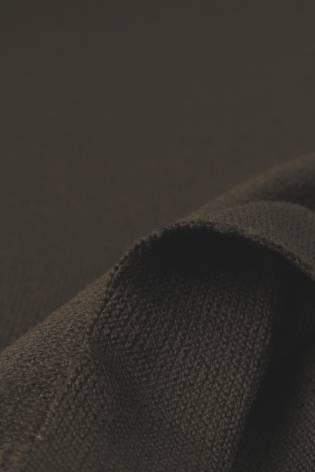 Dzianina sweterkowa brązowa KUPON 1,5 MB - 170 cm - 180 g thumbnail