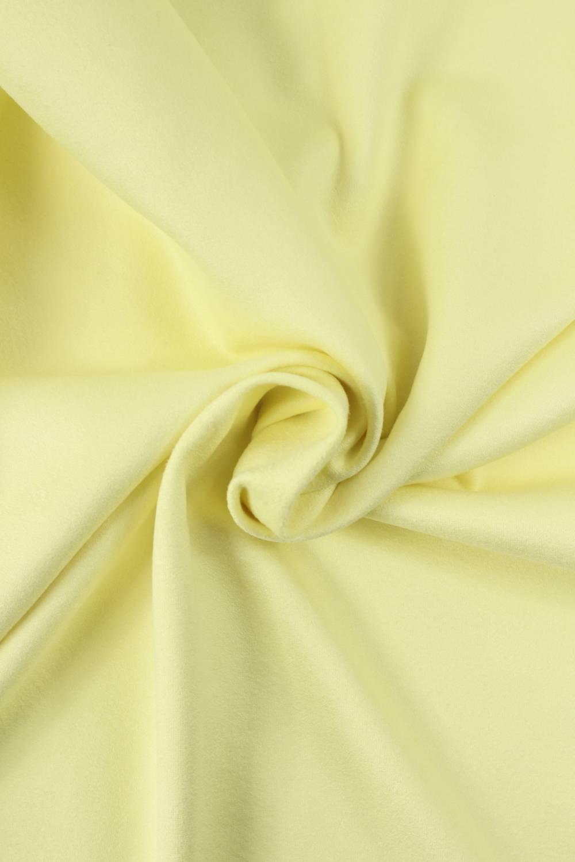 Dzianina jersey zamsz pastelowy żółty KUPON 1,5 MB - 155 cm - 350 g