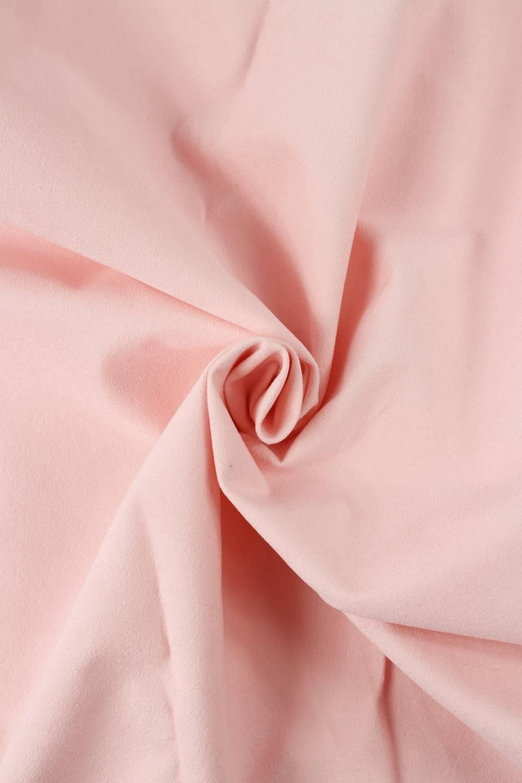 Tkanina zamszowa obiciowa pudrowy róż KUPON 1,5 MB - 155 cm - 290 g