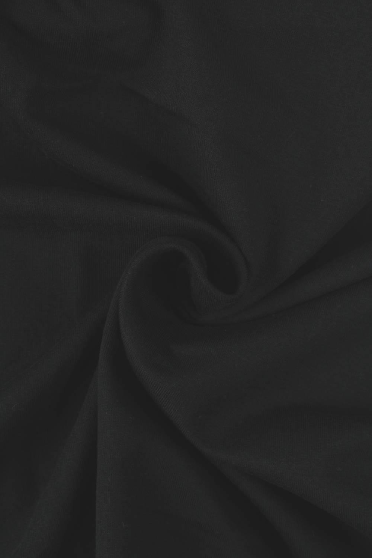 Dzianina dresówka lekko drapana czarna KUPON 1,5 MB - 160 cm - 220 g