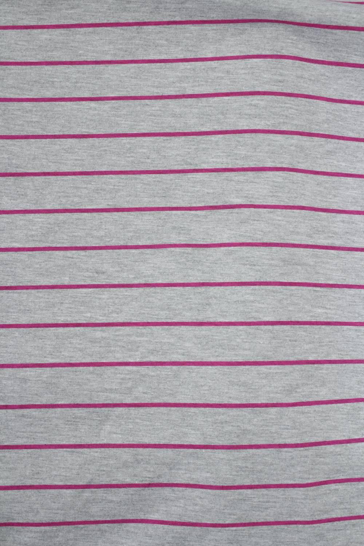 Dzianina jersey szary melanż w różowe paski KUPON 1,5 MB - 180 cm - 200 g