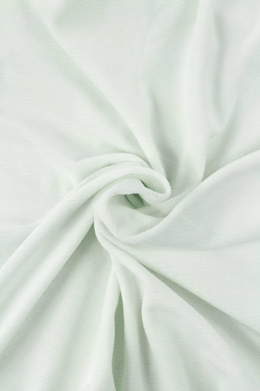 Dzianina welur biały w delikatne paski KUPON 1,5 MB - 185 cm - 210 g