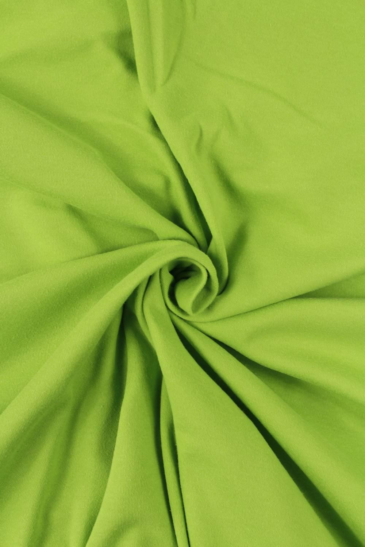 Dzianina interlock zielone jabłko KUPON 1,5 MB - 140 cm - 170 g