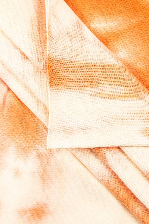 Ściągacz gładki batik pomarańczowy - 90cm/180cm 220g/m2