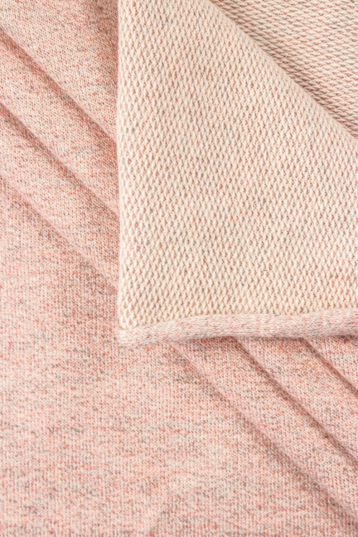 Dzianina dresowa pętelka - różowy melanż - 220cm 220g/m2
