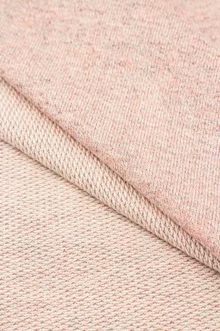 Dzianina dresowa pętelka - różowy melanż - 220cm 220g/m2 thumbnail